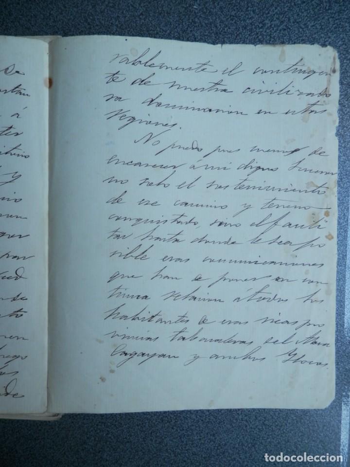 Manuscritos antiguos: GUERRA FILIPINAS EXTENSO INFORME MANUSCRITO AÑO 1880 GOBERNADOR GENERAL D MORIONES -INÉDITO - Foto 10 - 208875101