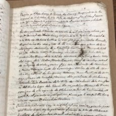 Manuscritos antiguos: MANUSCRITO LEGITIMIDAD, LIMPIEZA Y NOBLEZA DE SANGRE. LECIÑANA DEL CAMINO VALDEREJO, ALAVA 1814-1815. Lote 209112095