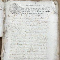 Manuscritos antiguos: MANUSCRITO DE INFORMACION DE HIDALGUIA DE VECINO DE ARROYO. ALAVA. AÑO 1790. Lote 209112285