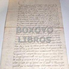 Manuscritos antiguos: ALEGACIONES DEL CONDE LA PUEBLA SOBRE PROPIEDAD DE LAS ACEÑAS DE MAZARIEGOS EN EL RÍO PISUERGA. Lote 118123030