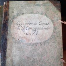 Manuscritos antiguos: LIBRO COPIADOR CARTA DE LA ADMINISTRACIÓN DEL CONDADO PEÑARANDA DE BRACAMONTE 1834 SALAMANCA. Lote 209714053
