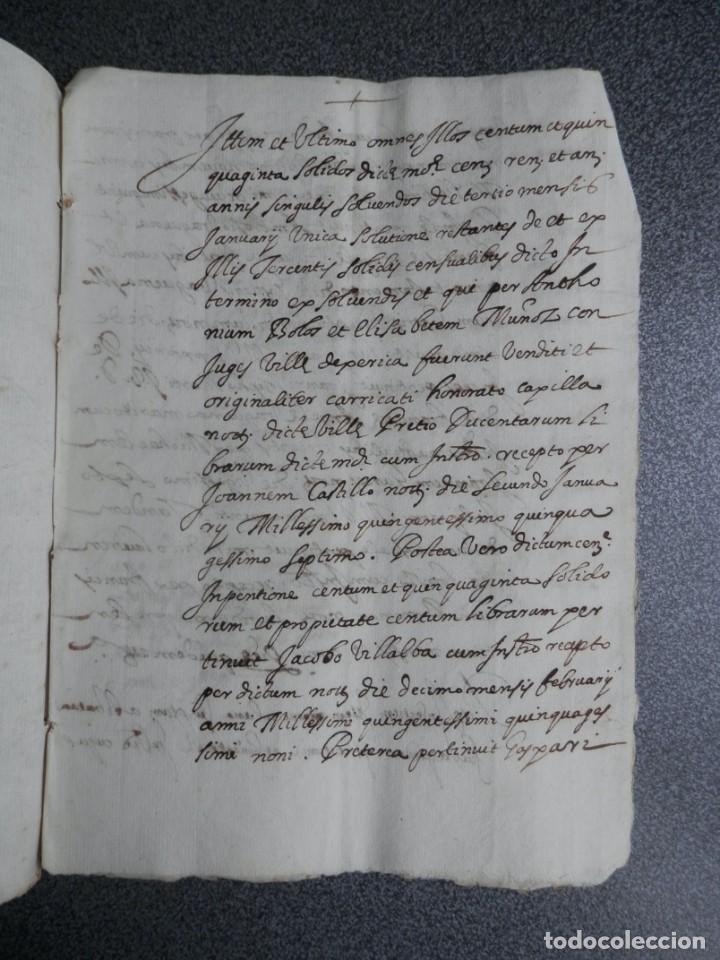 MANUSCRITO AÑO 1590 JÉRICA CASTELLÓN DOTACIÓN DE UN CENSAL (Coleccionismo - Documentos - Manuscritos)