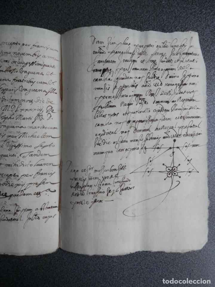 Manuscritos antiguos: MANUSCRITO AÑO 1590 JÉRICA CASTELLÓN DOTACIÓN DE UN CENSAL - Foto 2 - 209845157