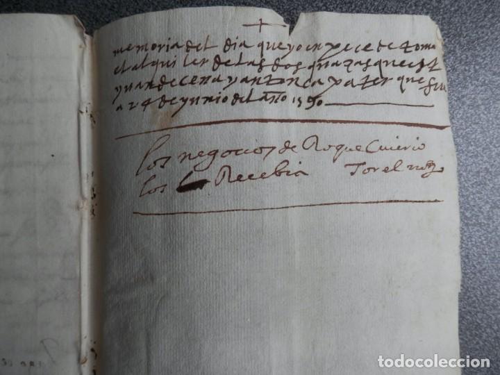 Manuscritos antiguos: MANUSCRITO AÑO 1590 JÉRICA CASTELLÓN DOTACIÓN DE UN CENSAL - Foto 3 - 209845157