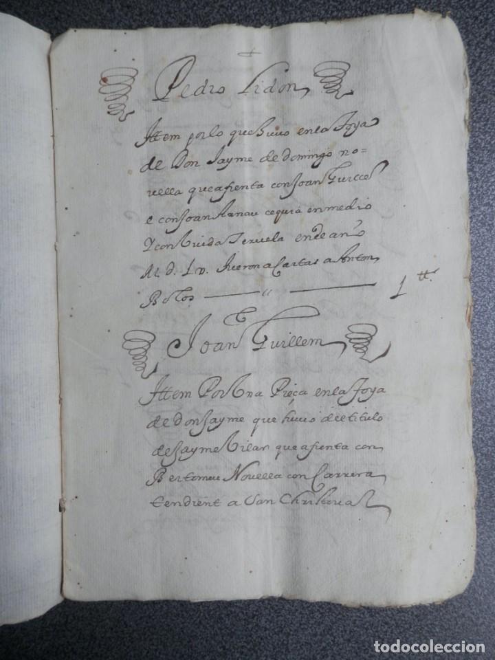 MANUSCRITO AÑO 1560-1600 JÉRICA CASTELLÓN ANOTACIONES DE LIBROS DE PECHAS DE LA VILLA 14 PÁGS (Coleccionismo - Documentos - Manuscritos)