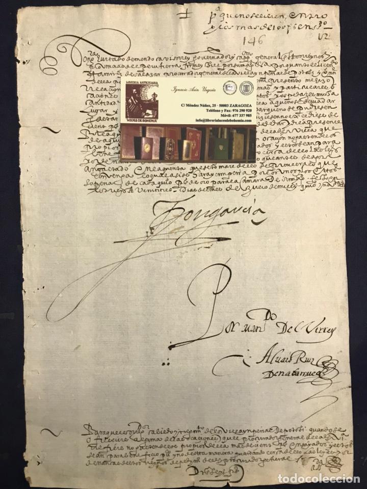 Manuscritos antiguos: IMPORTANTE FIRMA VIRREY GARCÍA HURTADO DE MENDOZA. 1592. AMÉRICA, MINAS, POTOSÍ, CUENCA, PLATA. PERÚ - Foto 2 - 210029033