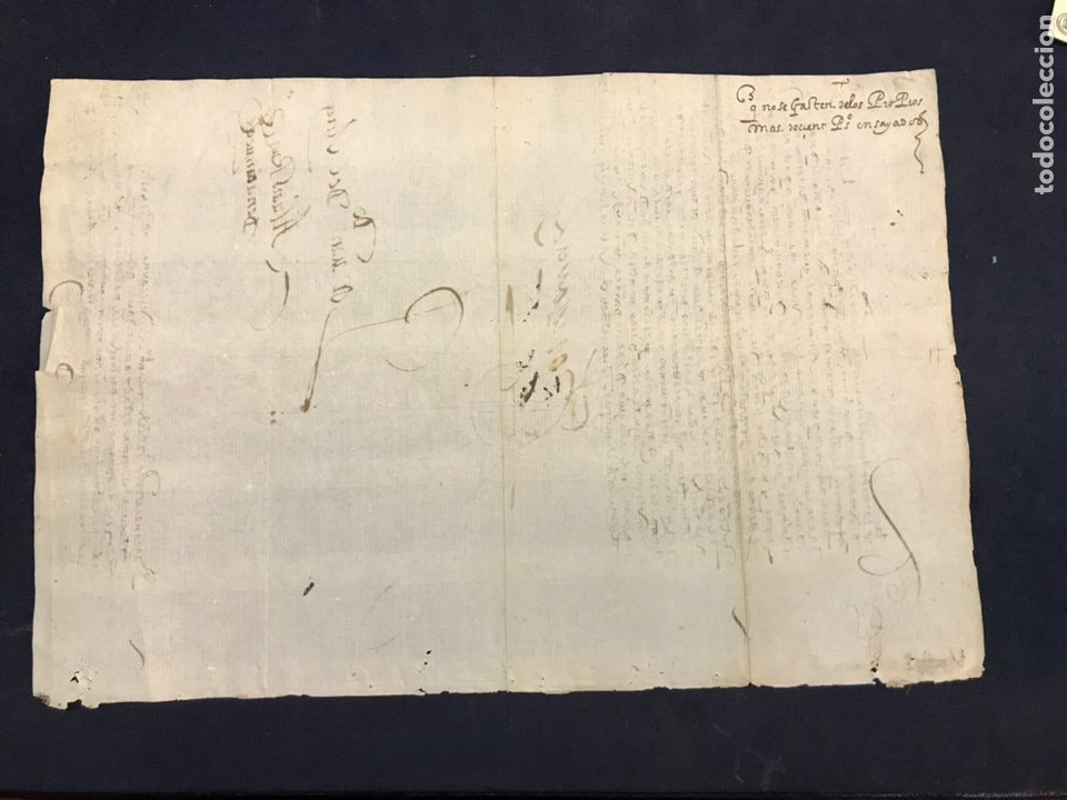 Manuscritos antiguos: IMPORTANTE FIRMA VIRREY GARCÍA HURTADO DE MENDOZA. 1592. AMÉRICA, MINAS, POTOSÍ, CUENCA, PLATA. PERÚ - Foto 6 - 210029033