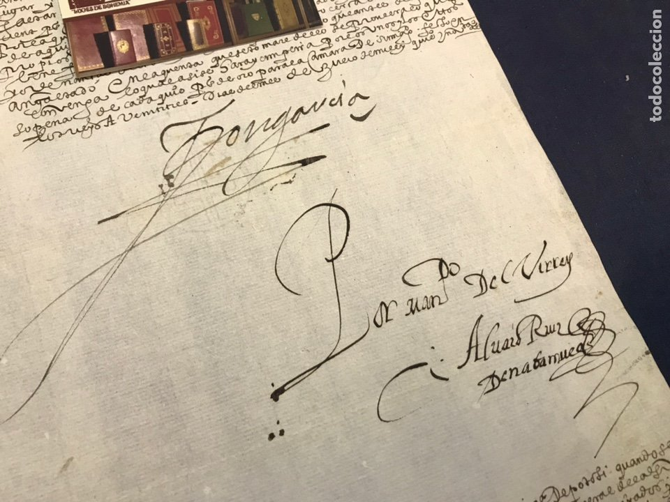IMPORTANTE FIRMA VIRREY GARCÍA HURTADO DE MENDOZA. 1592. AMÉRICA, MINAS, POTOSÍ, CUENCA, PLATA. PERÚ (Coleccionismo - Documentos - Manuscritos)