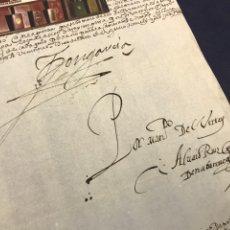 Manuscritos antiguos: IMPORTANTE FIRMA VIRREY GARCÍA HURTADO DE MENDOZA. 1592. AMÉRICA, MINAS, POTOSÍ, CUENCA, PLATA. PERÚ. Lote 210029033