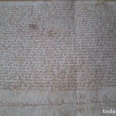 Manuscritos antiguos: MANUSCRITO EN PERGAMINO, VITELA, EN SEVILLA, AÑO 1.427. Lote 210056731
