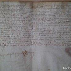 Manuscritos antiguos: MANUSCRITO EN VITELA, PERGAMINO, AÑO DE 1.403, SEVILLA, GRAN TAMAÑO. Lote 210057591