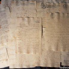 Manuscritos antiguos: LOTE 22 DOCUMENTOS ANTIGUOS DEL SIGLO XVII AL XIX SELLO CUARTO MARAVEDIES ESPAÑA. Lote 210076670