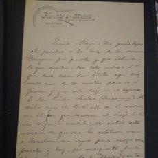 Manuscritos antiguos: CARTA MANUSCRITA CON FIRMA DEL PERIODISTA, MILITAR Y POLÍTICO NACIDO EN ESTEPONA AUGUSTO FIGUEROA.. Lote 210084305