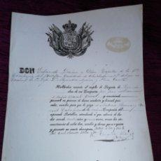 Manuscritos antiguos: DIRECION GENERAL DE INFANTERIA 1862. NOMBRAMIENTO. Lote 210088577