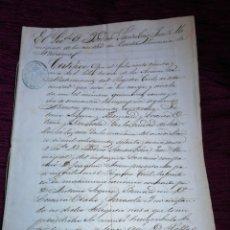 Manuscritos antiguos: DOCUMENTO MANUSCRITO DE ESTELLA. NAVARRA. 1879.. Lote 210089152