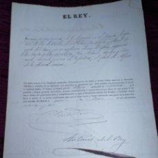 Manuscritos antiguos: EL REY. NOMBRAMIENTO DE ALFEREZ. Y JURA DE LA CONSTITUCIÓN. 1872.. Lote 210089770