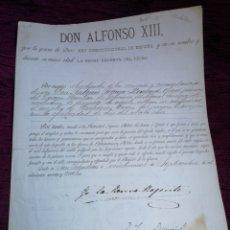 Manuscritos antiguos: ALFONSO XII. FIRMA SU MADRE. LA REINA REGENTE. NONBRAMIENTO. 1994.. Lote 210090365