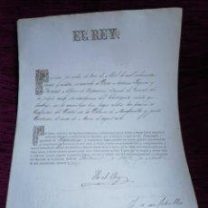 Manuscritos antiguos: ALFONSO XII. NOMBRAMIENTO DE TENIENTE. I TENDENCIA MILITAR DE NAVARRA. 1876.. Lote 210091210