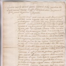 Manuscritos antiguos: COPIA DE ÓRDEN SOBRE PAGA SOLDADOS MUERTOS Y DESPEDIDOS SAN SEBASTIÁN Y FUENTERRABÍA 1624 PAÍS VASCO. Lote 210119081