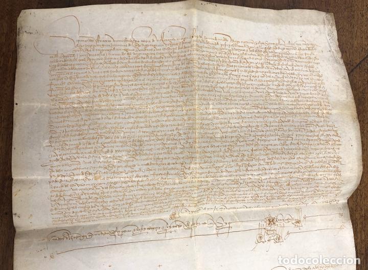 Manuscritos antiguos: ESCRITURA DE VENTA DE UNA TIERRA. JAEN, AÑO 1489 - Foto 2 - 210191373