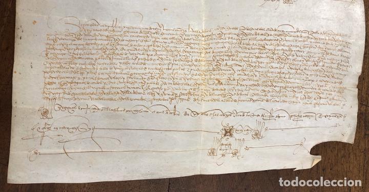 Manuscritos antiguos: ESCRITURA DE VENTA DE UNA TIERRA. JAEN, AÑO 1489 - Foto 3 - 210191373