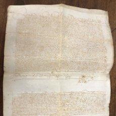Manuscritos antiguos: ESCRITURA DE VENTA DE UNA TIERRA. JAEN, AÑO 1489. Lote 210191373