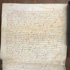 Manuscritos antiguos: ESCRITURA DE VENTA DE UNA HAZA DE TIERRA CALMA EN UN CORTIJO. JAEN. AÑO 1482. Lote 210191933