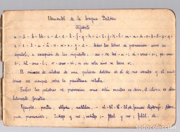 Manuscritos antiguos: CUADERNO CON APUNTES GRAMATICALES DE ESPERANTO. BILBAO. AÑOS 30. CURIOSIDAD - Foto 2 - 210193105