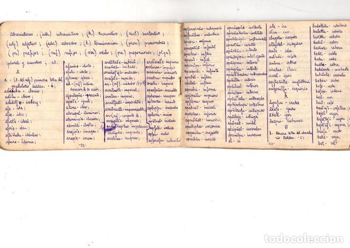 Manuscritos antiguos: CUADERNO CON APUNTES GRAMATICALES DE ESPERANTO. BILBAO. AÑOS 30. CURIOSIDAD - Foto 3 - 210193105