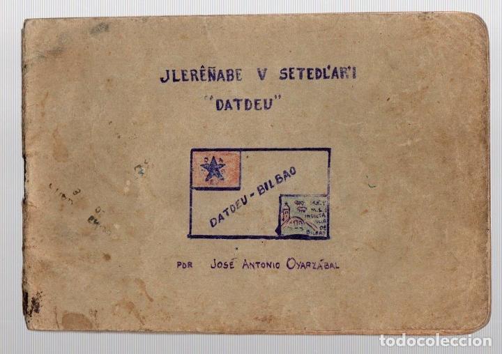 CUADERNO CON APUNTES GRAMATICALES DE ESPERANTO. BILBAO. AÑOS 30. CURIOSIDAD (Coleccionismo - Documentos - Manuscritos)