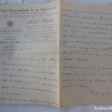 Manuscritos antiguos: AGUAS MINERO-MEDICINALES DE SAN HILARIO SACALM, HOTEL MARTIN, AUTOMOVILES TOURING CLUB 1917. Lote 210220946