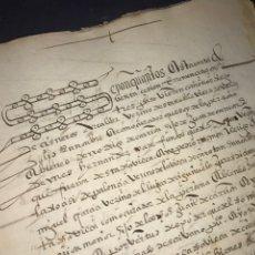 Manuscritos antiguos: VALLADOLID 1551. PRECIOSA CALIGRAFÍA. FIRMA NOTARIAL.. Lote 210319547
