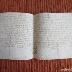 Manuscritos antiguos: 1412!!!--DOCUMENTO DE VIVAR, BURGOS. LOCALIDAD DEL CID. EN PERGAMINO, ORIGINAL. Lote 210328397