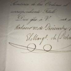 Manuscritos antiguos: NOMBRAMIENTO COMENDADOR ORDEN ISABEL LA CATÓLICA. FIRMADO MARQUÉS DE PIDAL. 1856. Lote 210337498