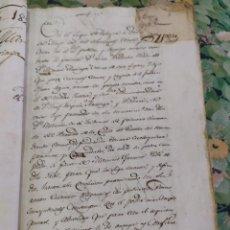 Manuscritos antiguos: 1821. TOMO CON DOCUMENTOS MANUSCRITOS. ACTAS, CONTRATOS MATRIMONIALES, PALACIO CABO DE ARMERÍA.. Lote 210340615