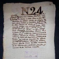 Manuscritos antiguos: SEVILLA,1565. CARTA DE PAGO A FAVOR DE ALEJANDRO JACOME DE LINDEN. 1 SELLOS-TIMBRES. VER Y LEER. Lote 210639954