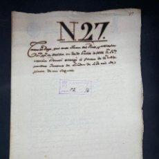 Manuscritos antiguos: SEVILLA,1666. CARTA DE PAGO A FAVOR DE ALEJANDRO JACOME DE LINDEN. 2 SELLOS-TIMBRES. VER Y LEER. Lote 210640014
