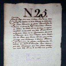 Manuscritos antiguos: SEVILLA,1666. CARTA DE PAGO A FAVOR DE ALEJANDRO JACOME DE LINDEN.VENTA CASAS. 2 SELLOS-TIMBRES.LEER. Lote 210640067