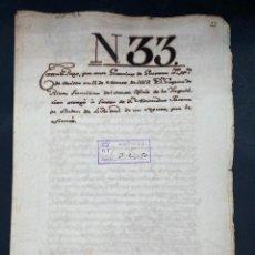 Manuscritos antiguos: SEVILLA,1667. CARTA DE PAGO. POLIZA DE SEGUROS DE CADIZ A SANTO DOMINGO Y LA ESPAÑOLA. 1 SELLO. LEER. Lote 210640180