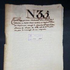 Manuscritos antiguos: SEVILLA,1667. CARTA DE PAGO. VIAJE DE SANTO DOMINGO A SANLUCAR DE BARRAMEDA. SEGURO. 1 SELLO. LEER. Lote 210640516