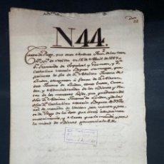 Manuscritos antiguos: SEVILLA,1669. HERENCIA. FERNANDO DE ESQUIVEL DE GUZMAN. ALEJANDRO JACOME DE LINDEN.DOTE.1 SELLO.LEER. Lote 210641302