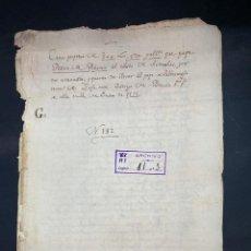 Manuscritos antiguos: ÉCIJA,1552. CENSO ENFITEUTICO DEL ESTADO DE ARENALES.. Lote 210641717