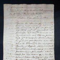 Manuscritos antiguos: CADIZ, 1805. AUTO REALIZADO ACREEDORES DE D. JOSE ISASSI DE MONTALVO. LEER. Lote 210641782