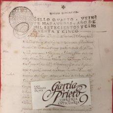 Manuscritos antiguos: ESCRITURA DE VENTA 1755, VILLARCAYO, BURGOS ANDRES FERNANDEZ Y Mª ANT. SOBRINO. VALHERMOSA. Lote 210818102
