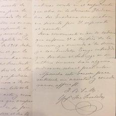 Manuscritos antiguos: CIUDAD REAL 1919, CARTA A GARCIA CATALAN. PANTANO DE PEÑARROYA. Lote 211415027