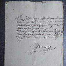 Manuscritos antiguos: IMPORTANTE CARTA AL REY FELIPE II AÑO 1588 NOMBRAMIENTO VIRREY DE ARAGÓN A UN EXTRANJERO - OPOSICIÓN. Lote 211439567
