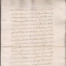 Manuscritos antiguos: TESTAMENTO DE DÑA. BERNARDA DE ARDANAZ. PAMPLONA. NAVARRA. 1761. Lote 211480485