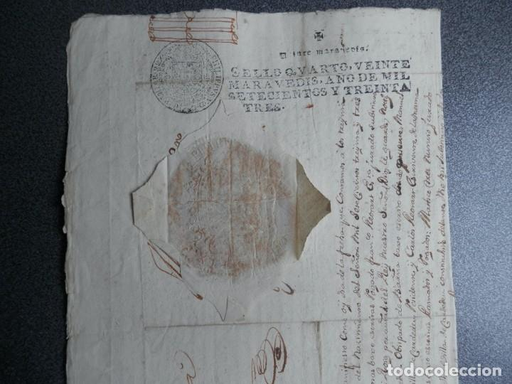 SELLO REAL FELIPE V LACRE - FIRMADO REGENTE CATALUÑA PLEITO CENSAL EN CARDEDEU BARCELONA - AÑO 1733 (Coleccionismo - Documentos - Manuscritos)