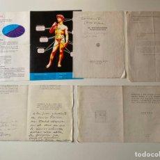 Manuscritos antiguos: SEVERO OCHOA , DEDICATORIA MANUSCRITA Y FOLLETOS RELACIONADOS CON MÁLAGA 1971 .. Lote 211654469