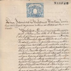 Manuscritos antiguos: 1885 BARCELONA SELLO FISCAL 11º DE 1 PTS DOCUMENTO MANUSCRITO. Lote 211724744